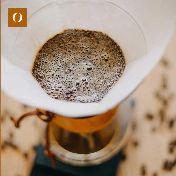 Caffè miscelato, tostato e macinato per estrazione a filtro